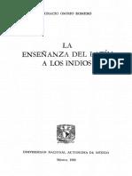 Osorio Romero Ignacio - La Enseñanza Del Latin A Los Indios.pdf