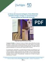 CCB y Pacto Global Hacen Reconocimiento a Surtigas