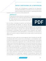 Contexto Normativo-Institucional de La Participación Ciudadana