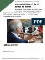 O Que Vai Mudar Na Lei Laboral_ as 10 Principais Medidas Do Acordo - Lei Laboral - Jornal de Negócios