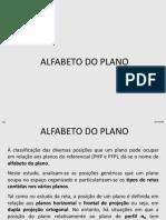 Alfabeto do plano apresentação