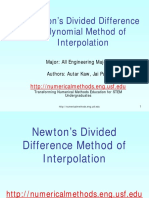 newton divided difference