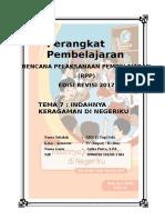 RPP Kelas 4 Tema 7 - Indahnya Keragaman di Negeriku - Edisi Revisi 2017.doc