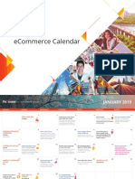 2019 Ecommerce Calendar