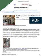 Draft Measurement Guide for Chimneys & Flues