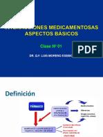 Clase 01 - Interacciones Medicamentosas Aspectos Basicos