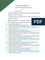 Conventions Multilatérales OIT