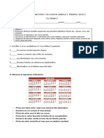 Evaluacion de Historia y Geografia Unidad 1 Primero Basico 2019