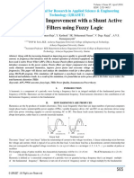 power quality improvement with a  shunt active filter using fuzzy logic controller