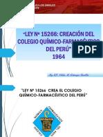 Ley Del Colegio Q.F. Del Perú y Su Modificatoria