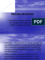 Pricing Decisions