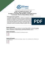 AP1 2013-2 Economia Brasileira Contemporanea - Gabarito