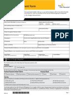Financial Amendment Form