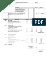 Matriz de Costos Escultura Metalica de Equino Con Base Material Metalico Reciclable