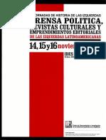 IV Jornadas de Historia de las izquierdas. Prensa politica, revistas culturales y emprendimientos editoriales.pdf