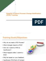 Supplier Pcn Training