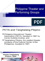 Philippine Theatre and Performing Groups