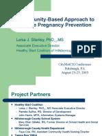 Hills Cnty. Healthy Start-Community Based Pregnancy Prevention