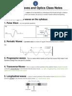 Waves and Optics Class Notes Part 1