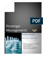 39 Super Notes on Strategic Management