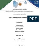 Actividad colaborativa - Tarea 2 Sistemas de ecuaciones lineales.docx