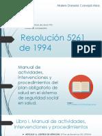 Resolución 5261 de 1994