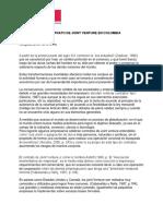 Aplicacion Del Contrato de Joint Venture en Colombia