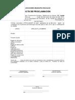 Acta Proclamacion y Credenciales