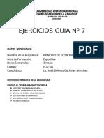Ejercicios Guia No 7 P. Economía.