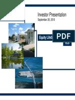 ELS Equity LifeStyle Properties Sept 2010 Presentation Slides Deck