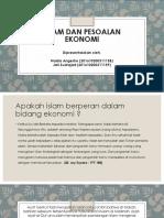 Islam Dan Pesoalan Ekonomi