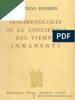 Fenomenologia de la consciencia del tiempo inmanente - Edmund Husserl.pdf