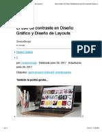 El uso de contraste en Diseño Gráfico y Diseño de Layouts