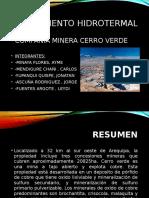 Lab 5 -Yacimiento Hidrotermal
