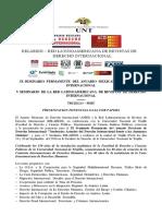 VERSION FINAL Convocatoria IX Seminario Permanente Del Anuario Mexicano de Derecho Internacional v Seminario Latinoamericano de Derecho Internacional Trujillo 2019