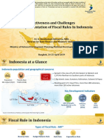 Effectiveness and Challenges in the Implementation of Fiscal Rules In Indonesia