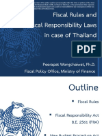 Fiscal Rules and Fiscal Responsibility Laws in case of Thailand