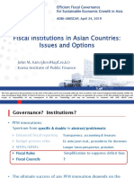 Fiscal Institutions in Asian Countries