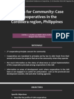 Case of Cooperatives in the Cordillera Region, Philippines