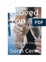 I LOVED YOU - Philosophical and love poems by Sorin Cerin