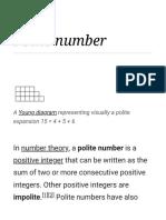 Polite numbers