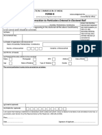 Form-8-Application for Correction to Particulars Entered in Electoral Roll.(English)