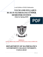 01b--Curriculum and Syllabus of BS Mathematics and MSc Mathematics Only for Spring 2019