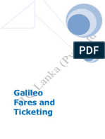 Galileo Fares and Ticketing