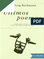 últimos poemas