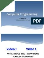 Computer Programming Ppt