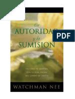 La Autoridad y Sumisión