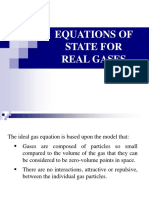Lecture #11 Real Gases