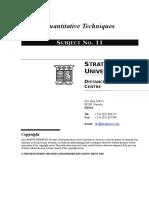 Quantitative Techniques Final as @ 4 May 2005
