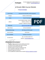 Advanced Oracle DBA Besant Technologies Course Syllabus